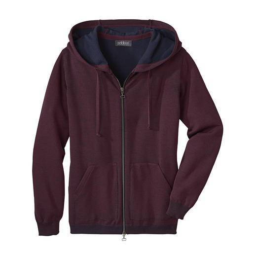 Seldom doubleface-vest voor dames Comfortabel vest dankzij de buitenkant van fijne merinowol en de binnenkant van zacht GIZA-katoen.