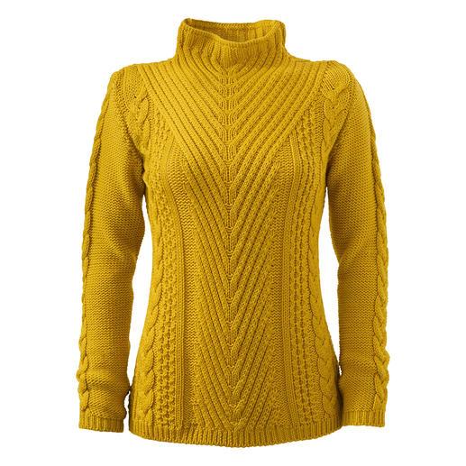 Peregrine trui met patronenmix Zelden zie je een trui met zoveel interessante structuurpatronen. Made in England. Van Peregrine.