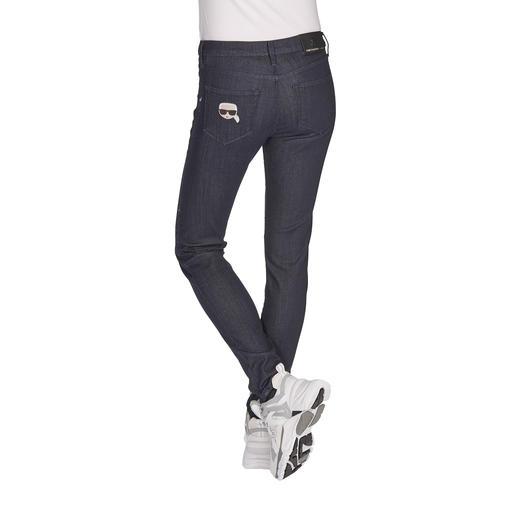 Karl Lagerfeld Raw Denim jeans Basic raw denimlook, maar met soepel draagcomfort en gewoon in de machine te wassen. Van Karl Lagerfeld.
