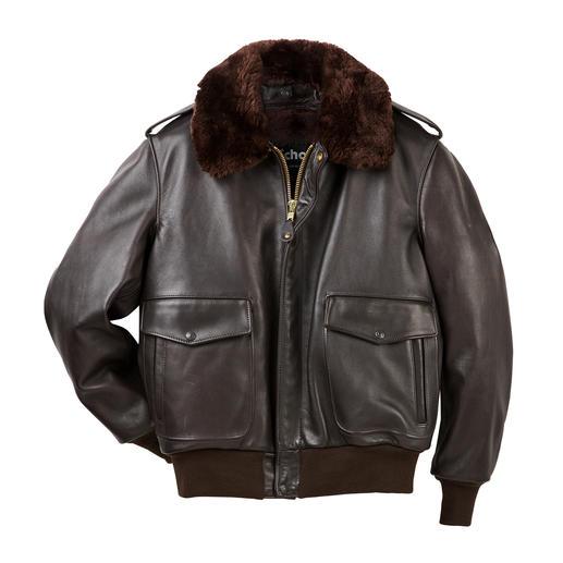 Schott pilotenjack A2 - Van 1931 tot 1943 het flight jacket van het US Army Air Corps. Modieus tot op de dag van vandaag.