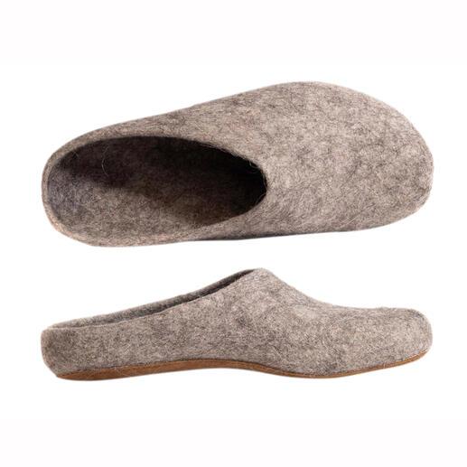 Magicfelt pantoffels van alpacawol Unieke kwaliteit: pantoffels van heerlijk warme, aangenaam temperatuurregulerende alpacawol.