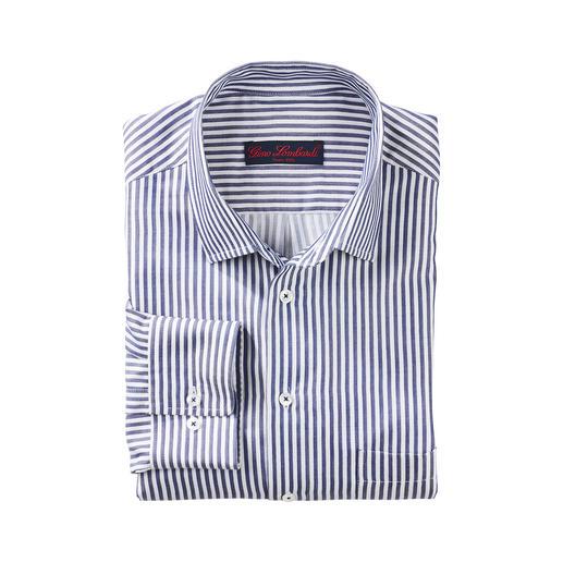 Overhemd met blokstrepen en zijde Heel aangenaam op de huid door de batiststof met 33% zijde.