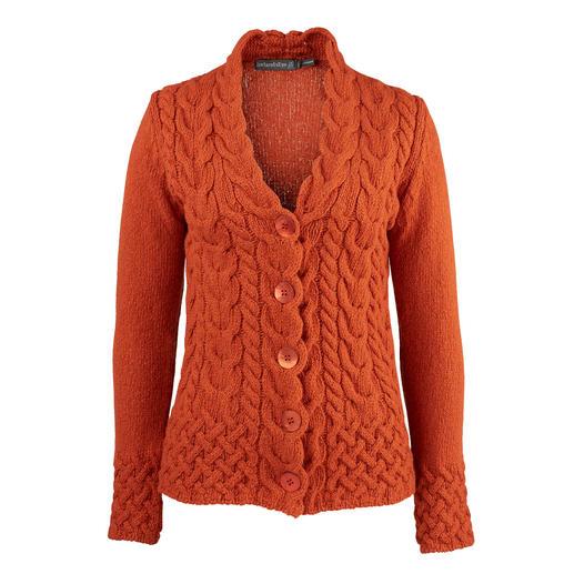 Irelands Eye vest met kabelmotief Het originele Ierse vest met kabelmotief raakt nooit uit de mode, maar is toch heel exclusief.