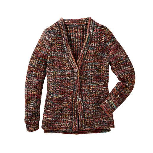 Kero Design handgebreid vest Multicolour Met de hand geverfd en gebreid: de multicolour-cardigan die gewoon overal bij past.