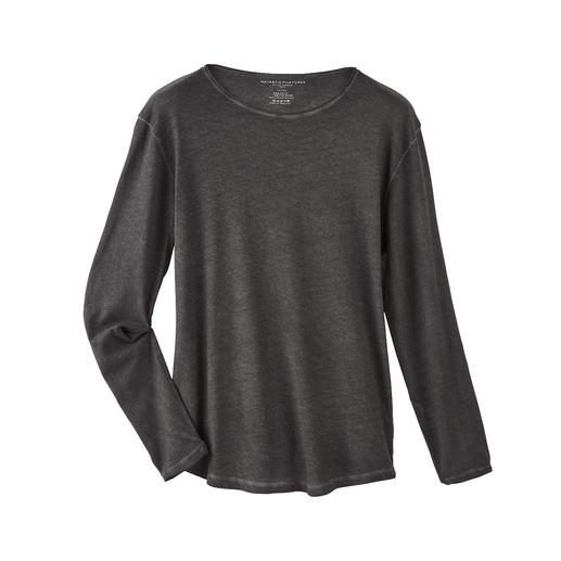 Kasjmierzacht shirt met lange mouwen Zachter en warmer dan gewone katoenen shirts: luxueuze longsleeve met kasjmier.