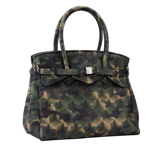 Superlichte tas Klassieke look, innovatief materiaal, modieus ontwerp: deze superlichte handtas weegt slechts 380 gram.