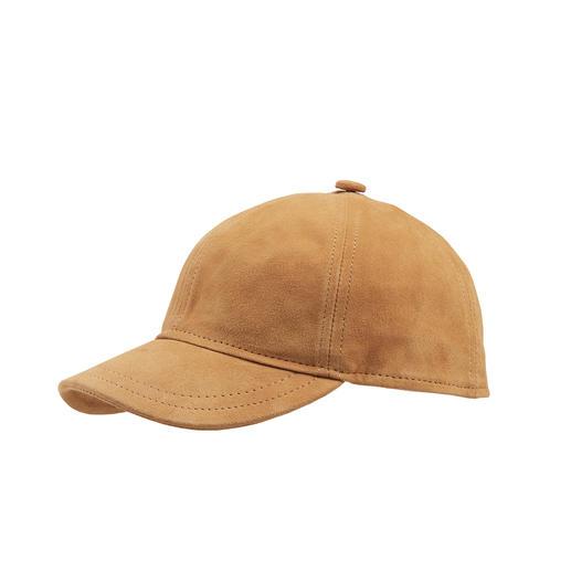 Lamssuède cap - Baseballcap deluxe: gemaakt van fluweel-zacht lamssuède. Van Herman Headwear.