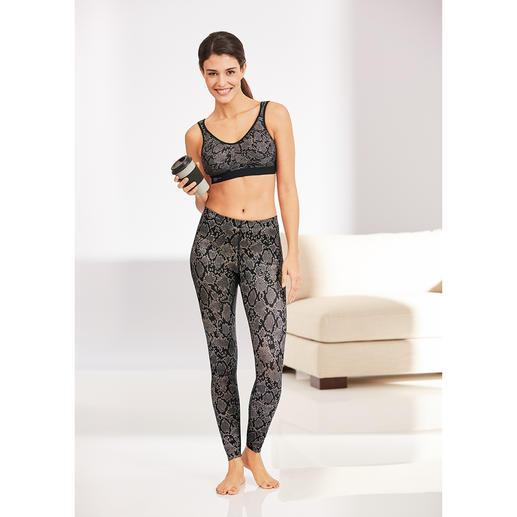 Anita Active massagelegging en sport-bh, python Bekroonde sportlegging met ingewerkte 3D-massagenoppen. Ook te bestellen: bijpassende sport-bh.