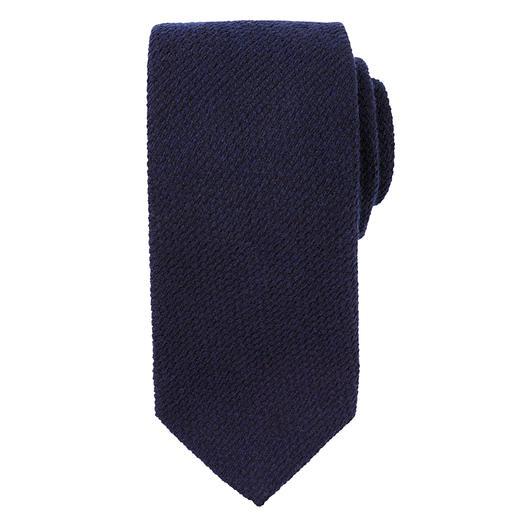 Blick stropdas van kasjmier en zijde Wollige gebreide look van kasjmier en zijde. Klassiek puntig model.