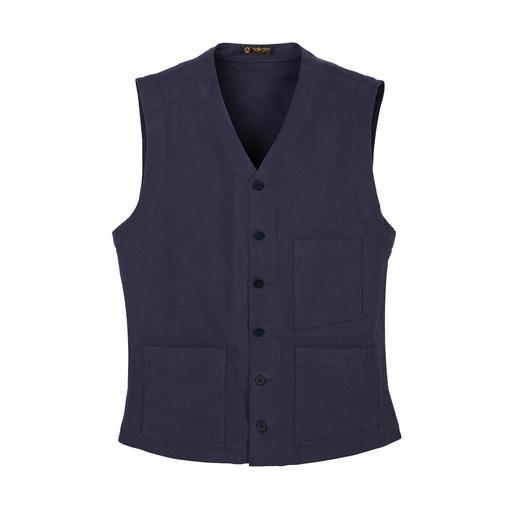 Hollington Heavy Cotton gilet Onverwoestbaar design. Het echte Patric Hollington-gilet.