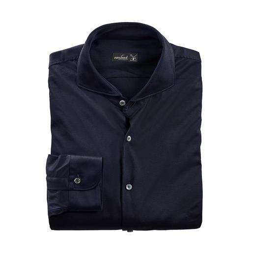 van Laack swiss+cotton- jersey-overhemd Verzorgd als een luxueus business-overhemd. Comfortabel als een casual T-shirt.