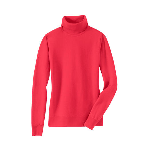Handtas-pullover Fijner wordt het niet. Deze ultralichte pullovers van John Smedley past in elke handtas.