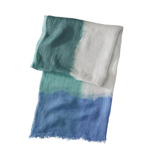 Ancini dip-dye-sjaal van linnen