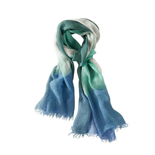 Ancini dip-dye-sjaal van linnen Uniek: linnen sjaal met een kunstig, met de hand geverfd verloop. Made in Italy. Van Ancini.