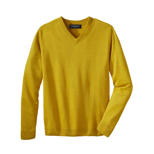 Junghans 1954  basic trui van linnen Zomers lichte basic trui – een exclusieve creatie van zuiver linnen. Made in Ireland. Van Junghans 1954.