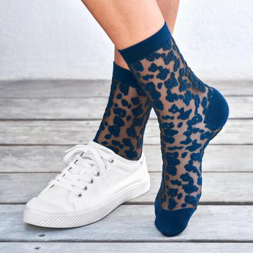 ELBEO sokken met luipaarddessin Trendy nylonsokken met luipaarddessin, van het oudste beenmodemerk ter wereld: ELBEO.