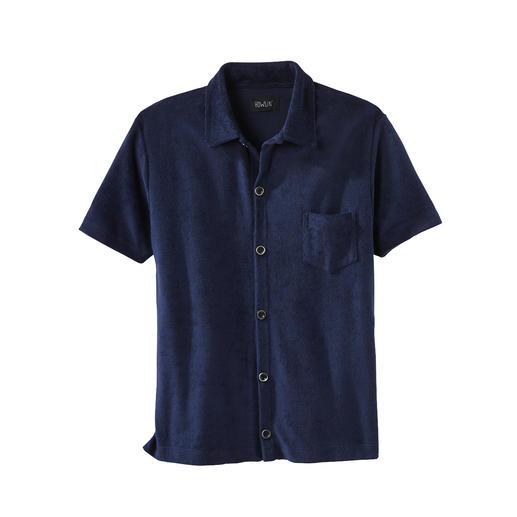 Bijzonder comfortabel: zijdezacht overhemd van badstof. Bijzonder comfortabel: zijdezacht overhemd van badstof. Ademend en vochtabsorberend. Van Howlin'.