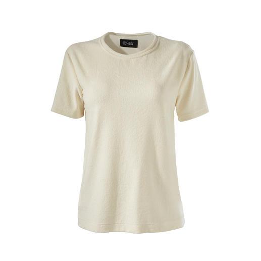 Howlin T-shirt van badstof Badstof: modieus in opmars, hier in een uniek fijne kwaliteit. Van Howlin.