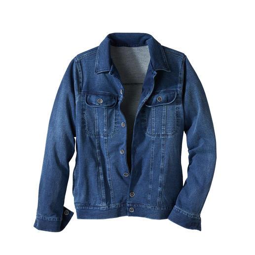 Jersey-jeansjack Het klassieke jeansjack – eindelijk net zo comfortabel als uw favoriete cardigan.