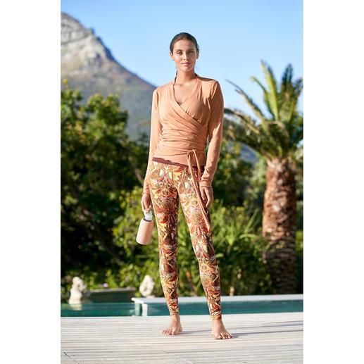 Mandala wikkeljack, top of legging Comfortabel genoeg voor yoga, tai chi en om thuis te dragen. Verzorgd genoeg voor de meest chique spa's.