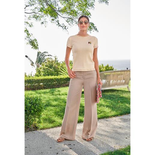 TWINSET broek met linnen De wijde broek van een luchtige mix van viscose en linnen. Van TWINSET.