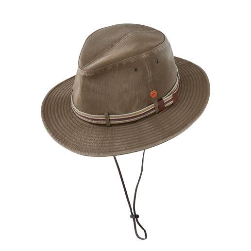 Mayser Traveller-hoed Licht, kreukbaar en wasbaar. Met UV-beschermingsfactor 80. Van Mayser, de Duitse hoedenspecialist sinds 1800.