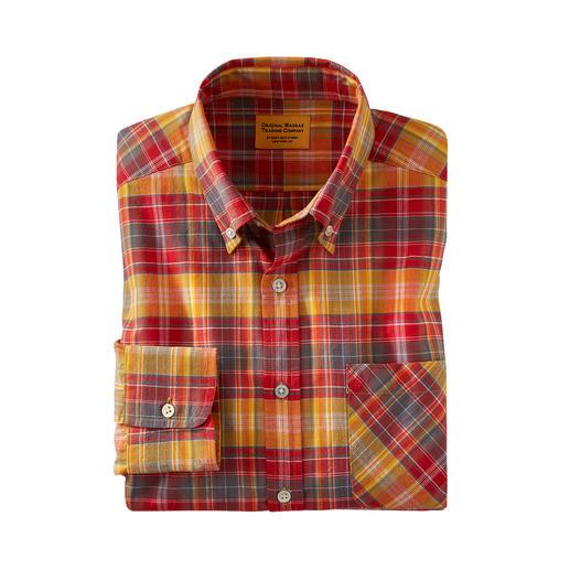OMTC geruit Madras-overhemd Het originele Madras-overhemd – traditioneel met de hand geweven in India. Van OMTC.