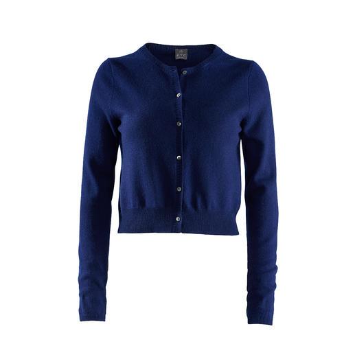 FTC-Cashmere korte cardigan De perfecte cardigan voor bij een modieuze ighwaist-broek of -rok.