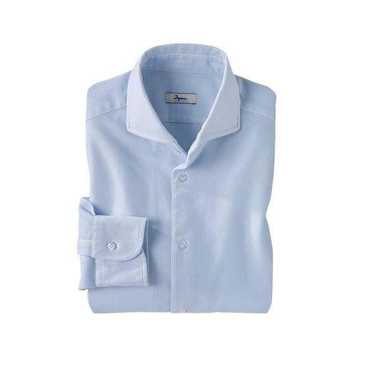 Ingram Giro Inglese-overhemd Exclusieve Giro Inglese: een van de meest luchtige zomerstoffen dankzij de open geweven structuur.