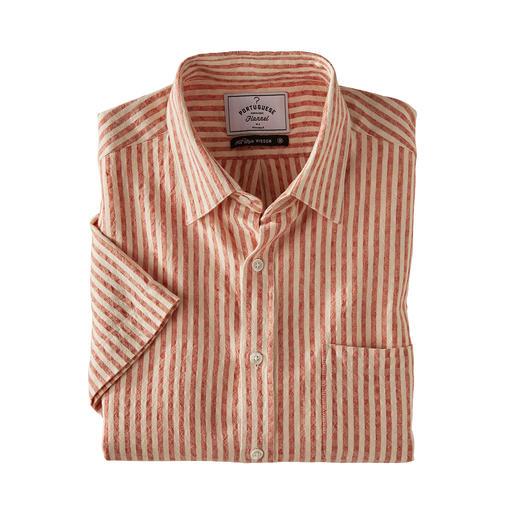Oxford-seersucker-overhemd Een luchtiger overhemd met korte mouwen zult u niet snel vinden.