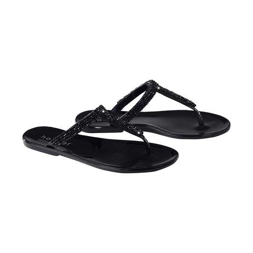 holster slippers met strassteentjes Mooi voor strand en bar: chique slippers van het trendy merk holster, Australië.