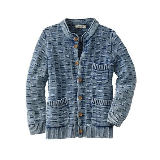 Indigo-vest Heel bijzonder: het vest dat perfect bij uw favoriete jeans past. Van Piece of Blue/Denemarken.