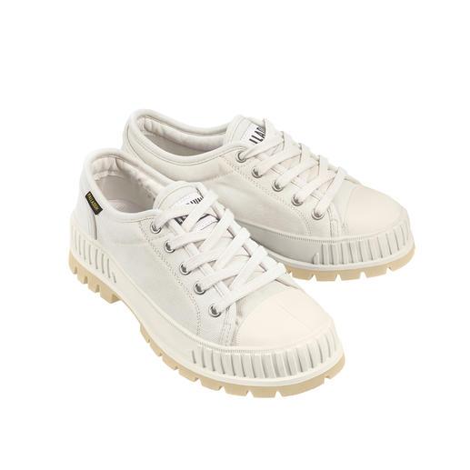 Palladium Bulky-sneaker Pallashock In de stijl van de jaren 90 – nu weer super trendy: bulky-form. Low-cut-schacht. Canvas.