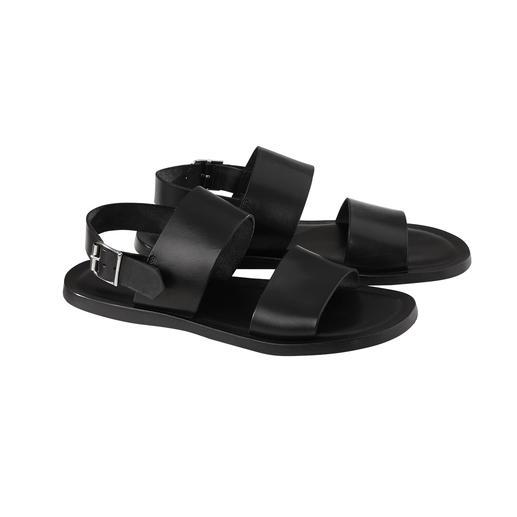 Sandalen van kalfsleer Zacht kalfsleer. Naadloos ingewerkt schokdempend voetbed. Verstelbaar hielriempje.
