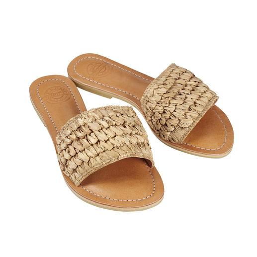 Bali-BAli® gevlochten pantolette Fashion goes Fair Trade: de handgemaakte gevlochten pantoletten van Bali-BAli®.