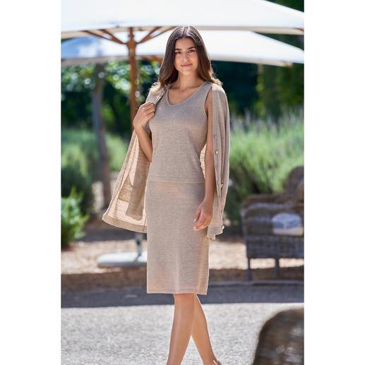 Junghans 1954 top, rok of cardigan van gebreid linnen Twinsets zijn er in soorten en maten, maar een bijpassende rok is vaak moeilijk te vinden.