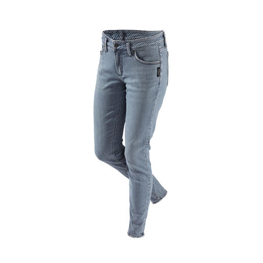 Silver skinny-jeans met strepen De originele Silver- jeans uit Canada: perfecte pasvorm, unieke stijl.