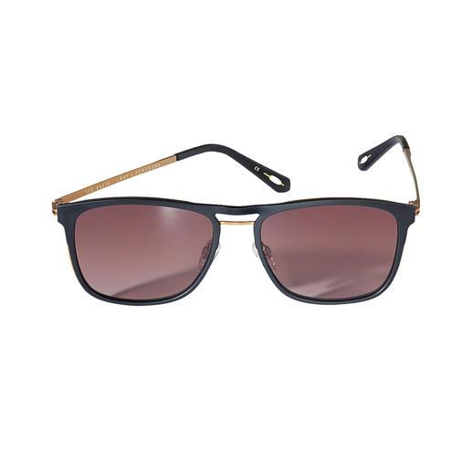 Ted Baker piloten-zonnebril Zonnebril van het exclusieve Londense trendmerk Ted Baker – in ons land nog moeilijk te vinden.