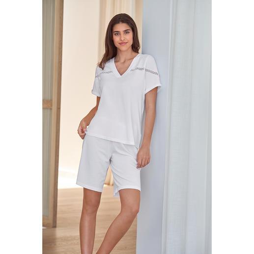 Pluto korte pyjama in clean-chic-stijl Veel eleganter dan andere korte pyjama's: het clean-chic-alternatief van Pluto/België.