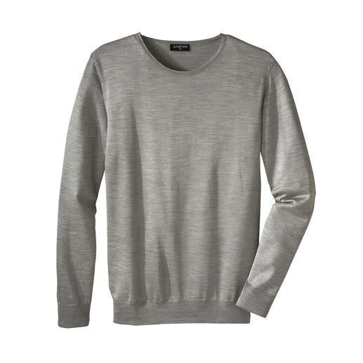 Junghans 1954 basic trui van zijde, ronde hals of V-hals Pure zijde. Made in Italy. En toch heel aantrekkelijk geprijsd.