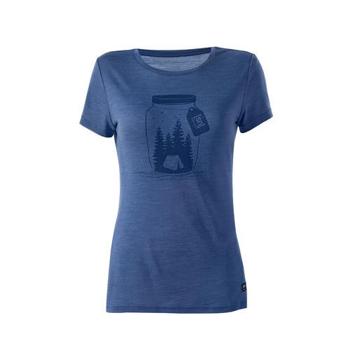 super.natural gedessineerd shirt voor dames Dit stijlvolle, opvallende motief vindt bijna iedereen mooi, maar het verschil in draagcomfort merkt alleen u.