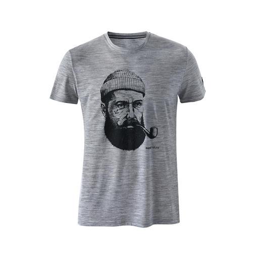 super.natural gedessineerd shirt voor heren Dit stijlvolle, opvallende motief vindt bijna iedereen mooi, maar het verschil in draagcomfort merkt alleen u.