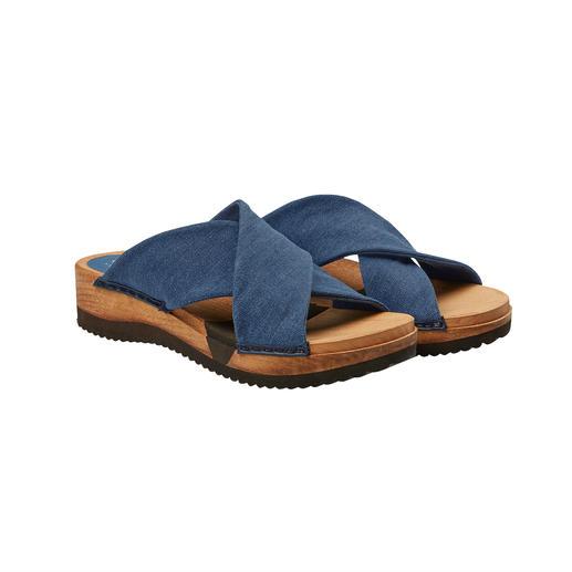 Sanita® houten slippers 'Hygge' voor uw voeten: modieuze houten slippers met een comfortabele flexibele zool en zachte bandjes.
