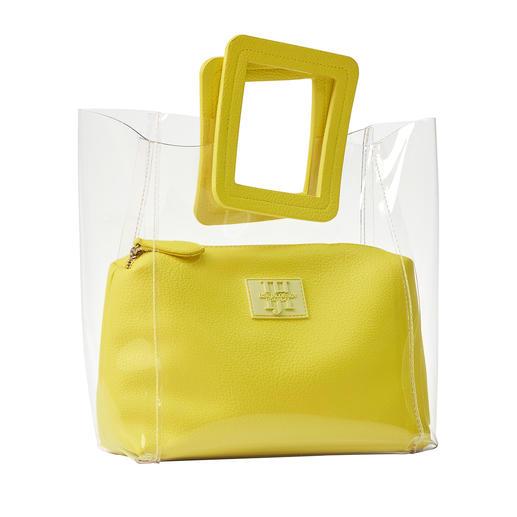 Ilse Jacobsen doorzichtige tas Nette look door 2-in-1-verwerking met uitneembare binnentas. Van Ilse Jacobsen.