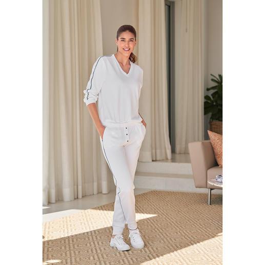 HFor sweatbroek, sweater met lange of korte mouwen Heerlijk comfortabel. Trendy model waarmee u ook buiten gezien mag worden en dat aantrekkelijk geprijsd is.