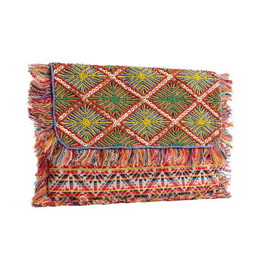 Smitten XL-clutch Mala Prachtig kralenborduursel en weefkunst, traditioneel met de hand gemaakt. Elke tas is uniek.