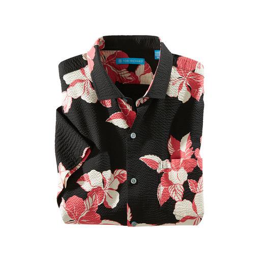 Aloha-Hibiscus-overhemd Ziet er cool uit. En zorgt ook voor de nodige verkoeling. Made in Hawaii door Tori Richard.