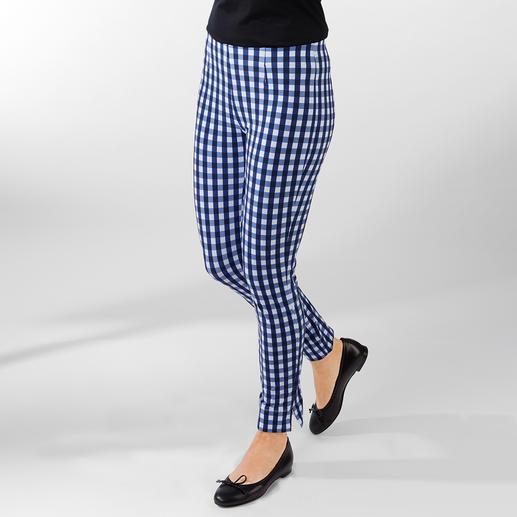 Seductive instap-broek 'Sabrina', geruit Seductive 'Sabrina': elegant, comfortabel, figuurvriendelijk.