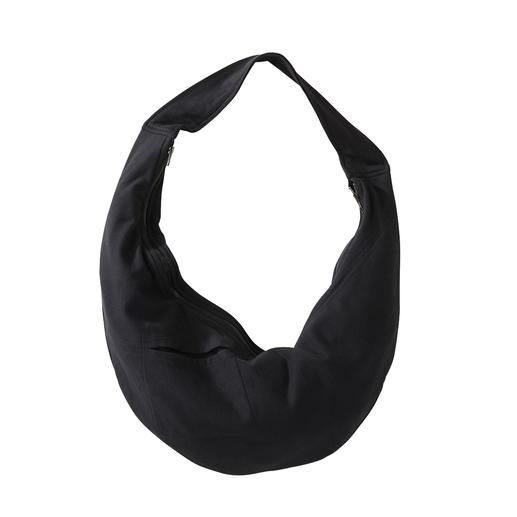 [schi]ess jersey-midirok, -shirt of -crossbody bag Chic zwart. Zachte jersey. Eenvoudig, casual model. Mt bijpassende crossbody-tas. Van [schi]ess.