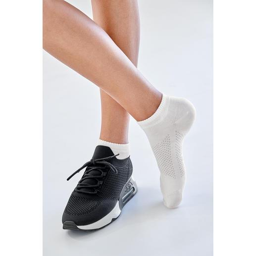 sneakersokken, dames, wit